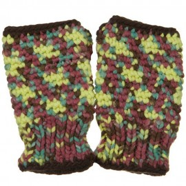 Multi Color Fingerless Glove - Burgundy