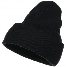 Stretch ECO Cotton Long Beanie - Navy