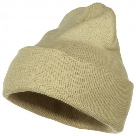 Stretch ECO Cotton Long Beanie - Beige