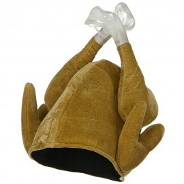 Plush Turkey Hat - Brown