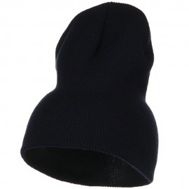 Big Stretch Plain Classic Short Beanie - Navy