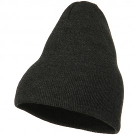 Big Stretch Plain Classic Short Beanie - Charcoal