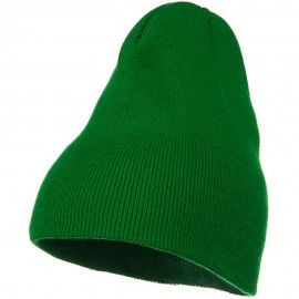 Big Stretch Plain Classic Short Beanie - Kelly