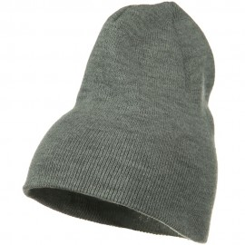 Big Stretch Plain Classic Short Beanie - Grey
