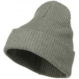 Eco Cotton Ribbed XL Cuff Beanie - Grey