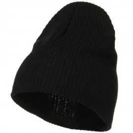 Eco Cotton Ribbed XL Classic Beanie - Black