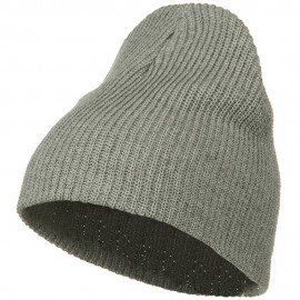 Eco Cotton Ribbed XL Classic Beanie - Grey