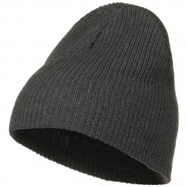 Eco Cotton Ribbed XL Classic Beanie - Charcoal
