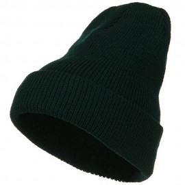 Stretch Heavy Wool Military XL Cuff Beanie - Spruce