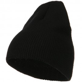 Stretch Heavy Wool Military Beanie - Black