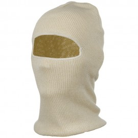 Cotton One Hole Face Mask - Natural