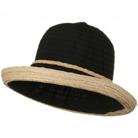 Tape Braid Raffia Straw Hat