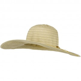 Stripe Top Brim Straw Hat