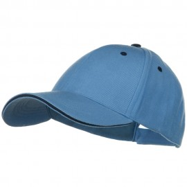 New Wool Look Sandwich Cap-Sky Blue Navy