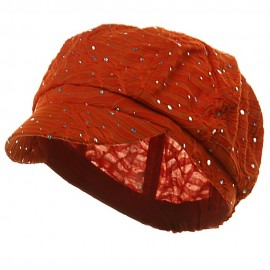 Glitter Newsboy Cap- Orange