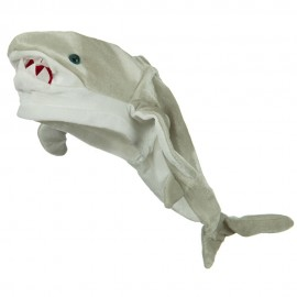 Shark Hat - Grey White