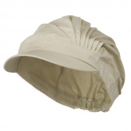 UV 50+ Cotton Pleated Hat - Beige