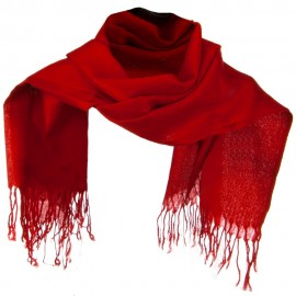 Solid ML Pashmina Scarf - Red
