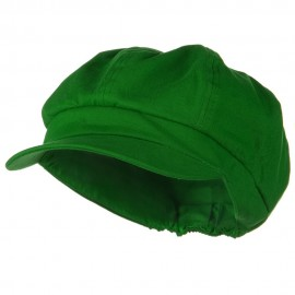 Cotton Elastic Big Size Newsboy Cap - Lime