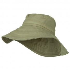 Wide Brim Ladies Linen Hat