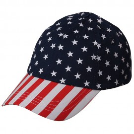 USA Flag Cap-Crown Star
