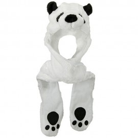 ML Animal Costume Hat with Mittens - Panda White