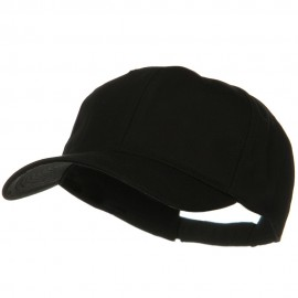 New Big Size High Profile Twill Cap - Black