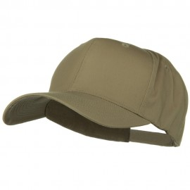 New Big Size High Profile Twill Cap - Khaki