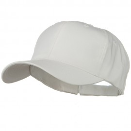 New Big Size High Profile Twill Cap - White