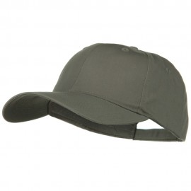 New Big Size High Profile Twill Cap - Grey