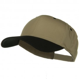 New Big Size High Profile Twill Cap - Khaki Black