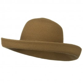 UPF 50+ Cotton Paper Braid Large Kettle Brim Hat - Bronze