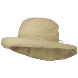 UPF 50+ Canvas Large Brim Self Tie Hat