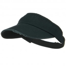Normal Dyed Frayed Wide Bill Visors - Dark Green
