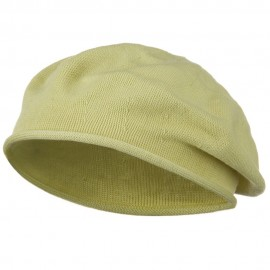 Toddler Rolled Brim Cotton Beret