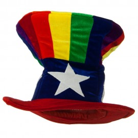 Uncle Sam Top Hat - Rainbow