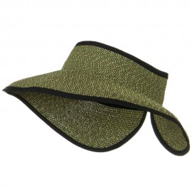 UPF50+ Tweed Roll Up Visor - Black Tan