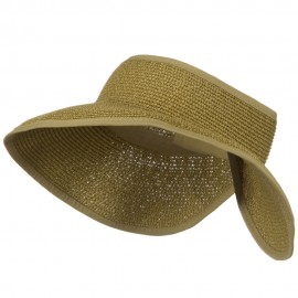 UPF50+ Tweed Roll Up Visor