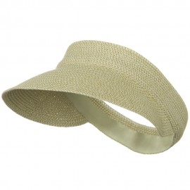 UPF50+ Regular Brim Velcrorized Back Visor - White Tweed