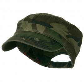 Enzyme Frayed Army Caps-Camo
