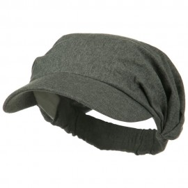 Cotton Convertible Elastic Band Visor - Grey
