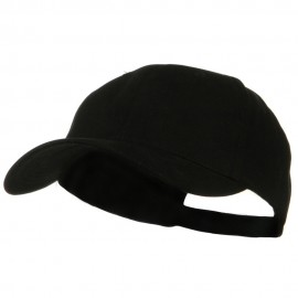 New Big Size Deluxe Cotton Cap - Black