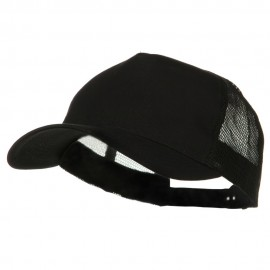 New Big Size Trucker Mesh Cap - Black