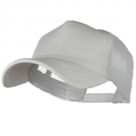 Big Foam Mesh Truck Cap - White