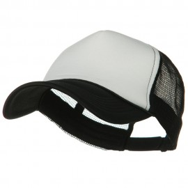 Big Foam Mesh Truck Cap - White Black