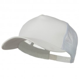 New Big Size Trucker Mesh Cap - White