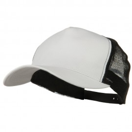 New Big Size Trucker Mesh Cap - White Black