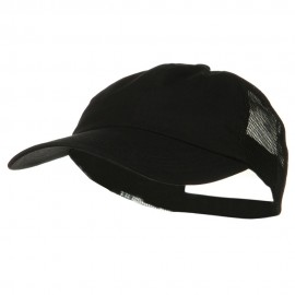 Big Size Low Profile Special Cotton Mesh Cap - Black Black
