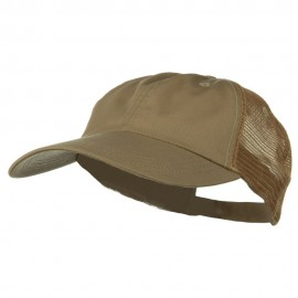 Big Size Low Profile Special Cotton Mesh Cap - Khaki Khaki