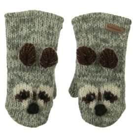 Child Animal Wool Mitten